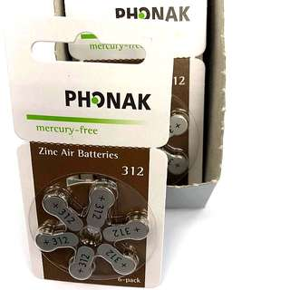 $45 ~ 1 box Size 312 Batteries (for Hearing Aids)