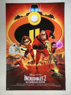 Incredibles 2 Original Double-sided Movie Poster 27x40