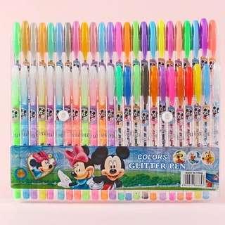 米奇48支閃光,螢光,水粉,金屬筆