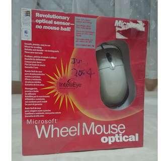 Vintage Microsoft USB PS/2 Optical Wheel Mouse IntelliEye ( brand new sealed , rare set )