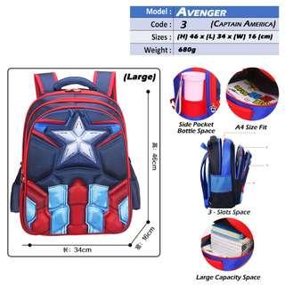Avenger School Bags_Captain America,IronMan