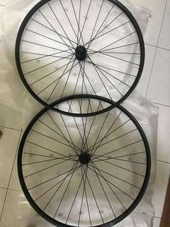 29er thru axle wheelset