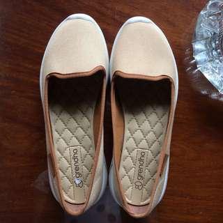 Grendha Slip on Rubber Shoes- Beige