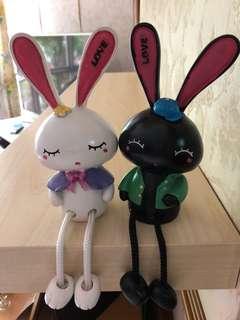 Love Rabbits Figurines