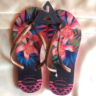 Havaianas Slim Tropical- Rosa