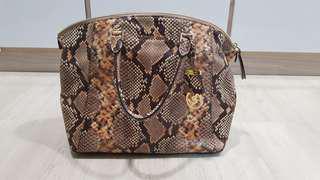 Michael Kors Brown Python-Print Bag