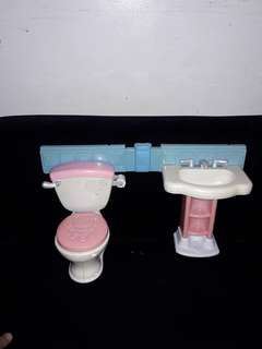 Toilet toy sink and bowl