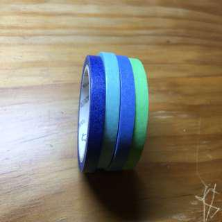 Shades of Blue and Green Washi Tape