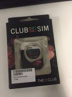 Club Sim 贈品 手機指環 ring holder