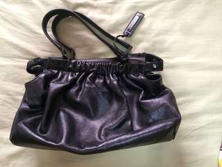 Authentic Sportmax genuine leather hand bag purse black
