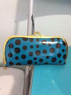 New Blue Polka Dot Long Wallet