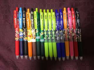 <ready stock> disney / snoopy / cat / love / clover design sarasa pen -READ Description for detailed price list