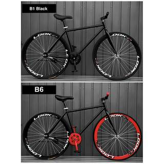 "*FreeDelivery/Gifts* 26"" Black Frame And Black Rim Fixie With Black Tyre Coaster Brakes New"