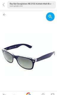 ray ban new wayfarer blue