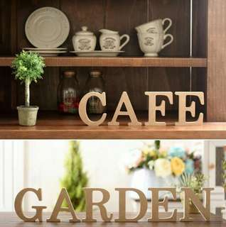 🍀A-Z Wooden Letter For Wedding Party Decoration🍀