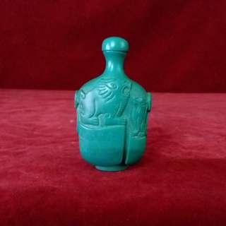 """古代綠松石的珍藏 - 亦称 """" 土耳其玉 """"  鼻烟壺"""