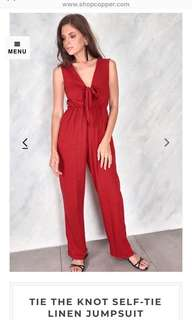ShopCopper Red Jumpsuit