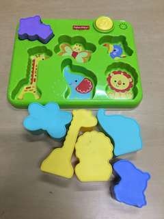 fisher price animal shapes tray