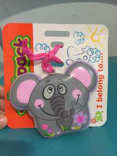 New Elephant luggage Tag from Okiedog