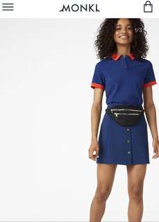 Monki Colour Block Polo Top