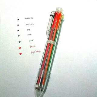 Ballpoint 6 Colour In 1
