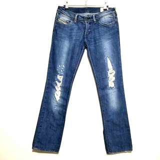 Original Diesel Lowky Tattered Straight-Cut Jeans