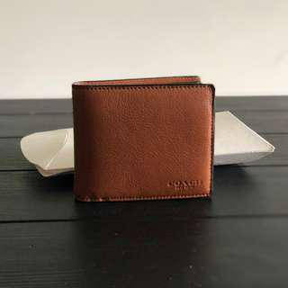 Coach Caramel Brown Mens Wallet