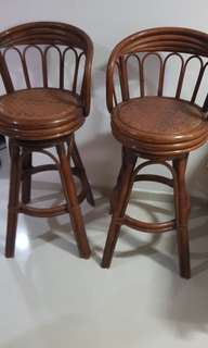 Cane Wooden Stools