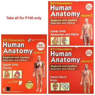 BD Chaurasia's Human Anatomy – Volume 1, 2, and 3 – 6th edition