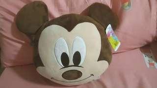 🚚 #畢業一百元出清 全新含吊牌| 迪士尼Disney米奇造型圓枕 頭型枕 午安枕