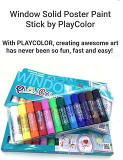 Premium Quality Window Solid Poster Paint Stick by PlayColor Window Marker for Glass, Ceramics, Tiles and Mirrors