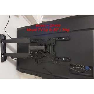 """TV Wall Mount Full Motion Tilt (up to 52"""" / weight 31.8kg ( brand new)"""