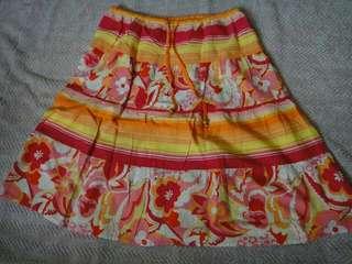Plains and Prints Floral Skirt