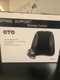 Brand New in box OTO Spinal Support Massage Cushion