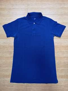 Uniqlo polo shirt blue