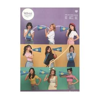 TWICE WHAT IS LOVE POSTER