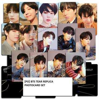 [PO] BTS Tear Replica Photocard Set