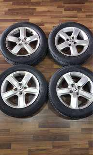 "Selling Honda rims (All for $120, I just bought this car and upgrade my rims to 16"". Selling of the original rims 15"" size 185/60/15, PCD 4 x 100.) Cheap and good deal!"