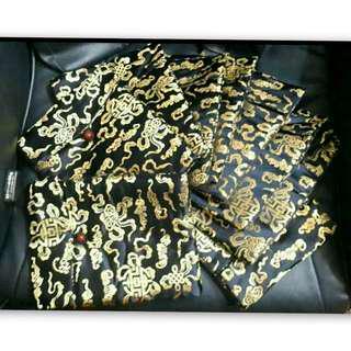 🚚 9個一起買,中國風黑色緞面大收納袋(有附背帶)24×9公分