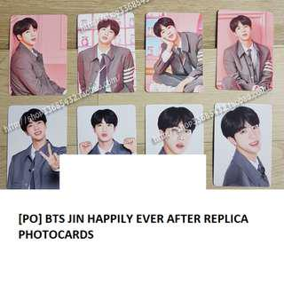[PO]BTS Jin Happily Ever After Replica Photocard Set