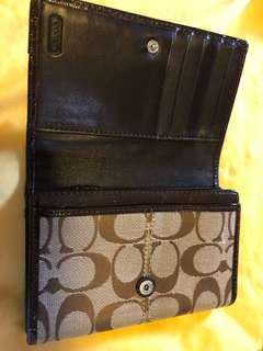 Coach brown wallet