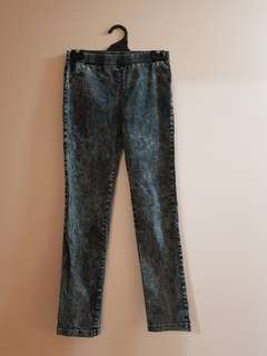 Black Acid Wash Pants