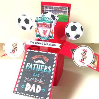🚚 Happy father's day handmade Pop Up card