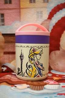 日本迪士尼長髮公主保暖飯壺