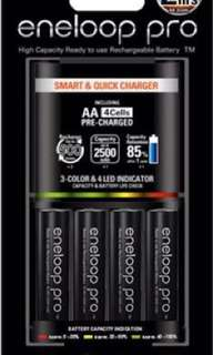 Eneloop Pro 4x AA Batteries with Smart Charger