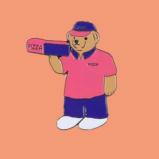 Pizza Skateboards 出品 Pizza Bear Pin 別針 Palace / Polo Sport 熊