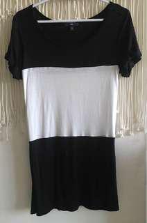 Gap black and white tunic
