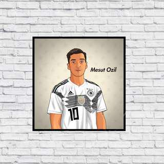 Germany Mesut Ozil in Home & Away Kit Wall Print