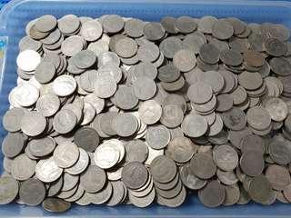 500X Thailand 1 One Baht Coin