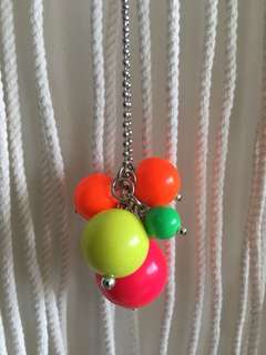 Seed Girl's Fluro Bulbs Necklace